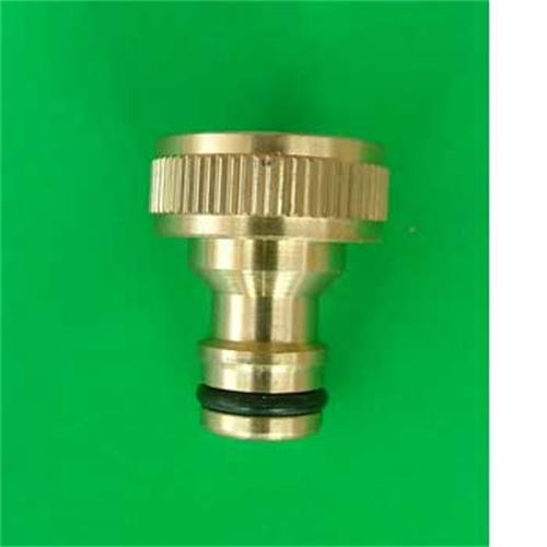 "Threaded Brass Tap Adaptor - 3/4"" image 1"