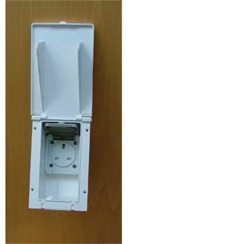 Caravan 13 amp Exterior Outlet Socket- white image 1