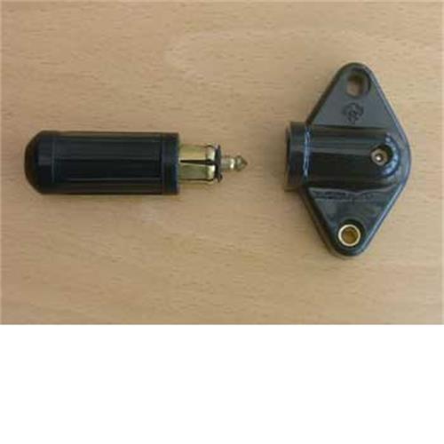 Single pole socket with plug (Euro type) image 1