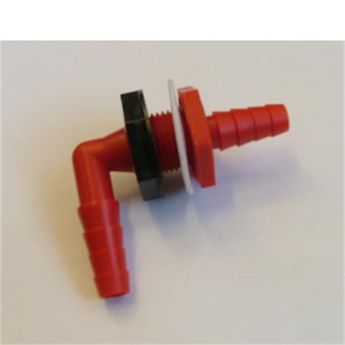 "Bulkhead fitting elbow 1/2"" hose image 1"