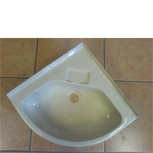 plastic bathroom sink corner bowl white 355mm x 355mm caravan corner sink 13999