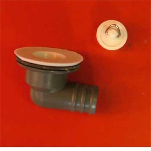 """Sink waste angled 3/4"""" (7/8"""" plug) image 1"""