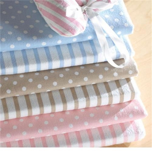 Helena Springfield Cambridge Pink Striped Double Fitted Sheet image 1