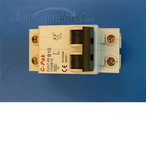 Double Pole MCB 10 amp - B10 image 1