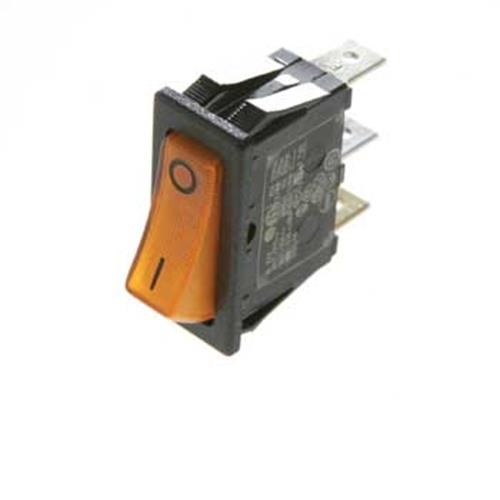 SWITCH for gas ignition, orange face for Dometic and Electrolux Fridges image 1
