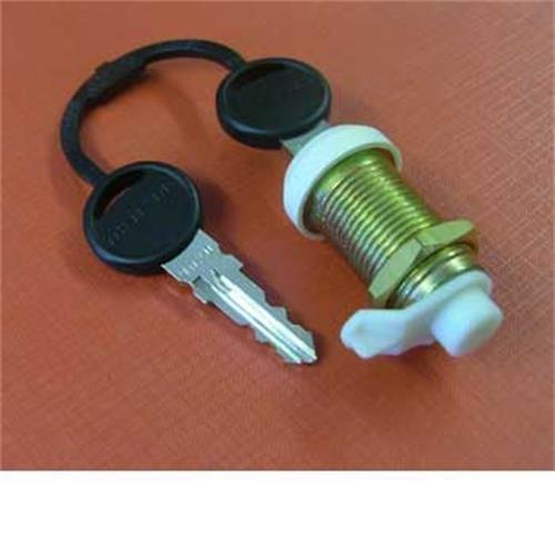 Thetford Lock barrel and 2 keys for Service Doors image 1