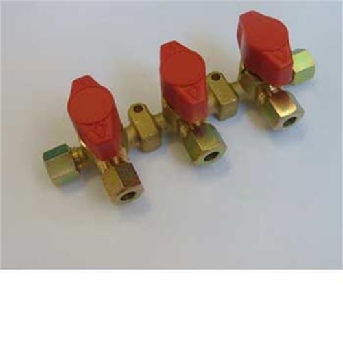 Truma 3 Tap Gas Manifold 8mm image 1