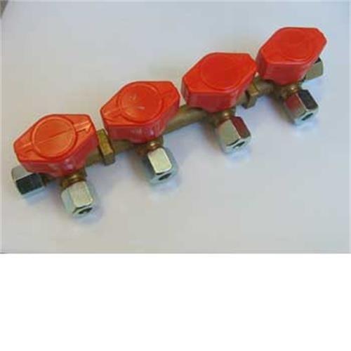 Truma 4 Tap Gas Manifold 8mm image 1