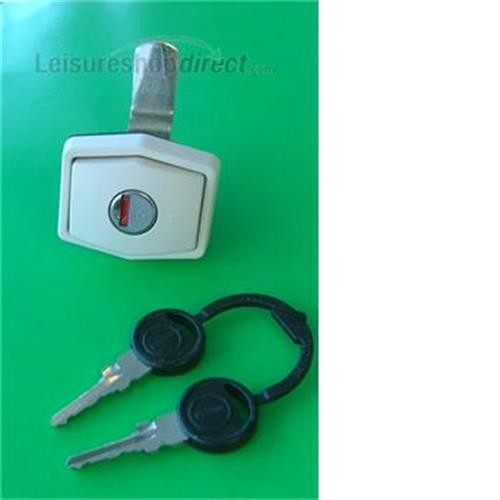 Zadi Compartment Lock - White- (BARREL AND KEYS NOT INCLUDED) image 1