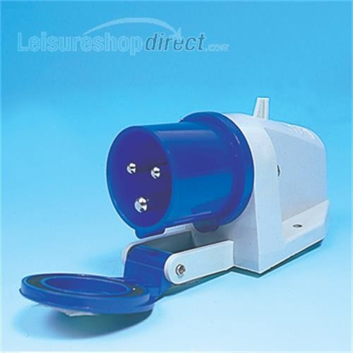 Surface Mounted 230 volt inlet with flap image 1