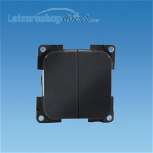 C-Line Double Switch- dark grey image 1