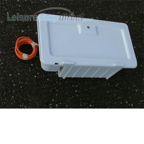Battery box complete with door and infill, white image 1