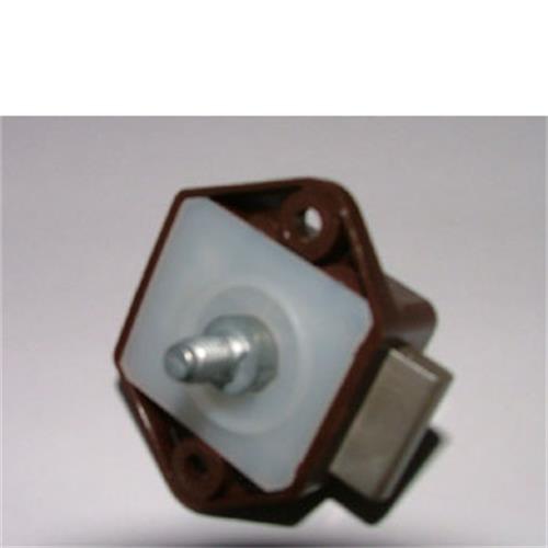 Mini Push Button Lock 15mm Brown image 1