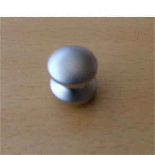 Mini push button for Cupboard Lock , nickel coloured image 1