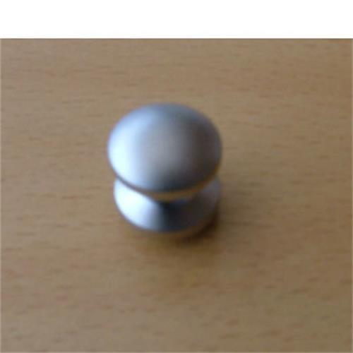 Mini push button for Cupboard Lock , nickel coloured image 1