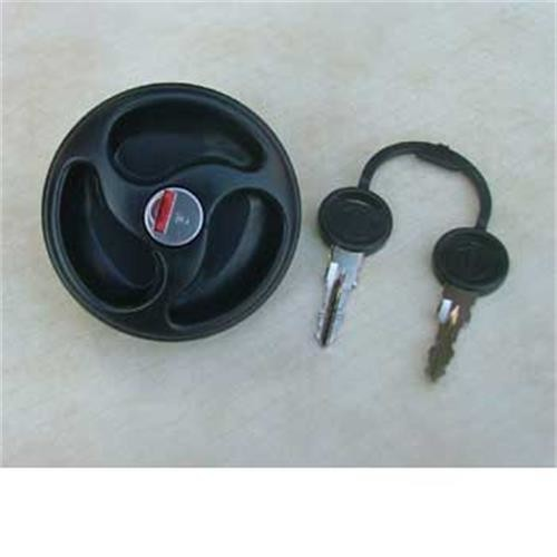 Water filler cap with 2 keys, black image 1