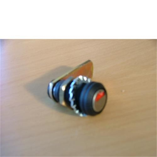 Compartment lock barrel shaped - black image 1