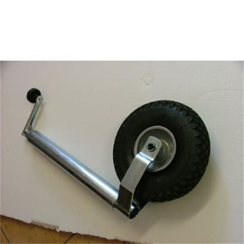 Caravan Jockey Wheel complete 48mm shaft, pneumatic tyre image 1