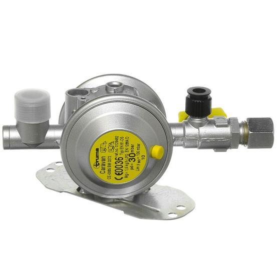 Truma gas regulator, 30 mbar, 10mm outlet image 1