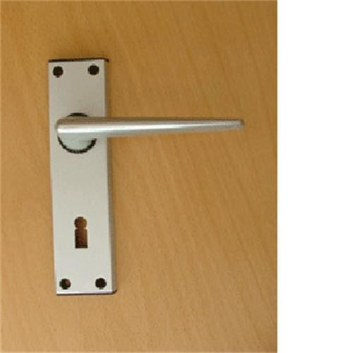 R TYPE static door handles for Static Caravans - silver image 1