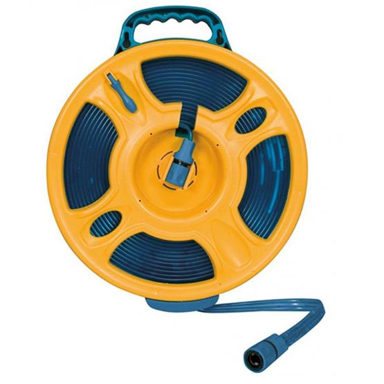 Brunner Hose Reel with new flat hose - 15m image 1