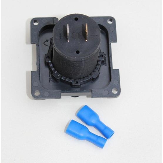 CBE 12v Twin USB Socket - Dark Grey image 3
