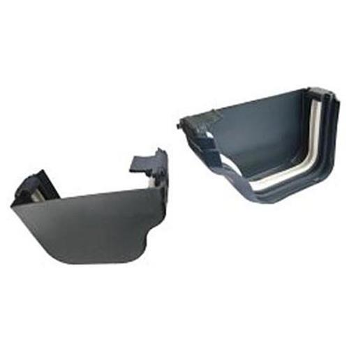 DLS Holiday Home Gutter End Cap Set- Left and Right Hand Caps in Graphite image 1
