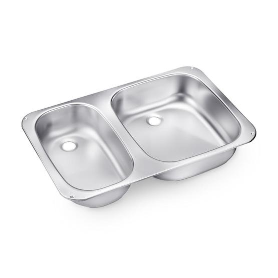Dometic Smev VA945 Double Caravan Sink image 1