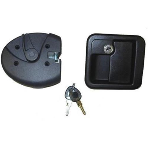Door lock FAP MK complete lock assembly black type 1 image 1