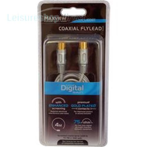 Maxview 4M Digital Coaxil 75 ohm Flylead - Silver image 1