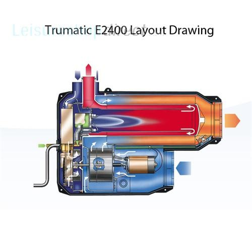 Trumatic E2400 Heater 30mbar comes with black control panel image 2