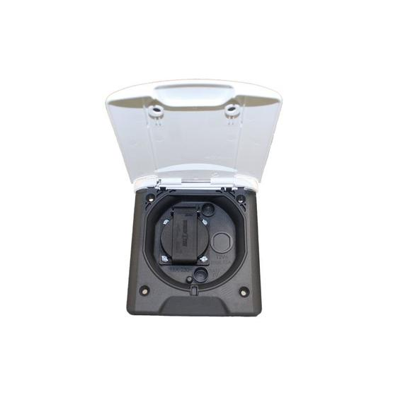 FAWO 230v outlet with UK socket with magnetic lock image 1