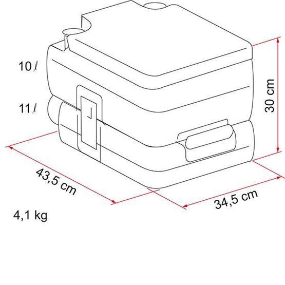 Fiamma Bi-Pot 30 Portable Toilet image 8
