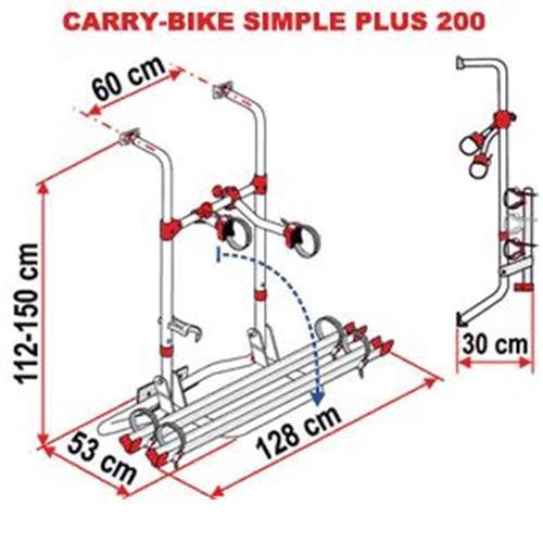 Fiamma Carry Bike - Simple Plus 200 (Red) image 4