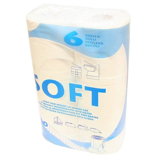 Fiamma soft toilet paper - 6 rolls image 1