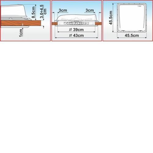 Fiamma Turbo Vent Rooflight - White image 12