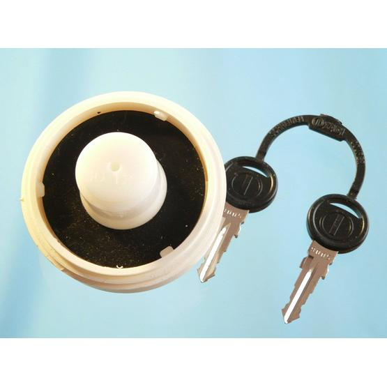 Water filler cap with 2 keys, white image 2