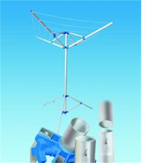 Fold Down Rotary Airer with Tri-pod and Carry Bag image 1