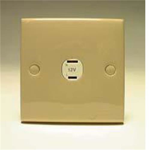 2 Pin Socket Square Beige image 1