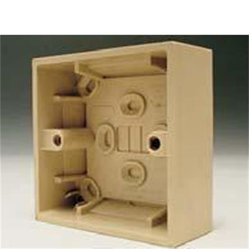Single Gang Mounting Box Beige image 1