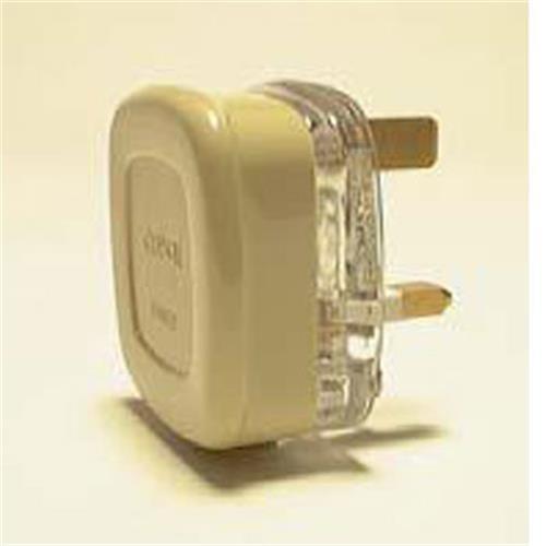 13amp Plug Beige image 1