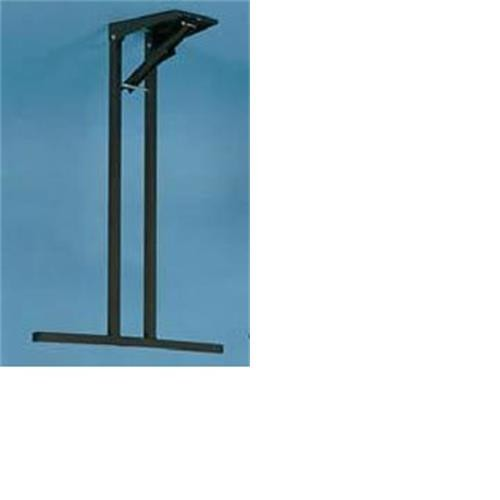 Free standing table leg - 660mm - brown image 1