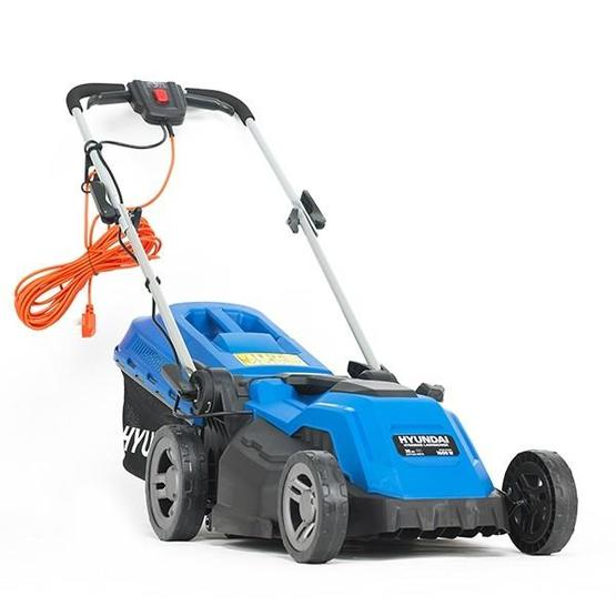 Hyundai HYM3800E Electric 1600W / 230V 38cm Rotary Rear Roller Lawnmower image 1
