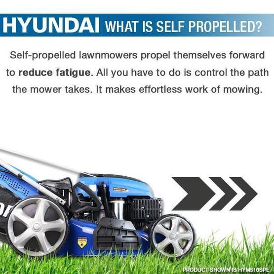"Hyundai HYM530SPER 21"" 525mm Self Propelled Electric Start 173cc Petrol Roller Lawn Mower image 32"