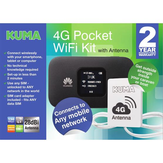 Kuma 4G Caravan & Motorhome Mobile Pocket WiFi Kit with Antenna image 8