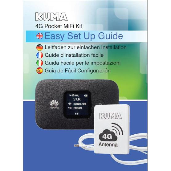 Kuma 4G Caravan & Motorhome Mobile Pocket WiFi Kit with Antenna image 6