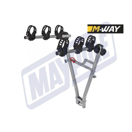 M-WAY TYPHOON TOWBALL MOUNTED 3 BIKE & CRADLES image 2