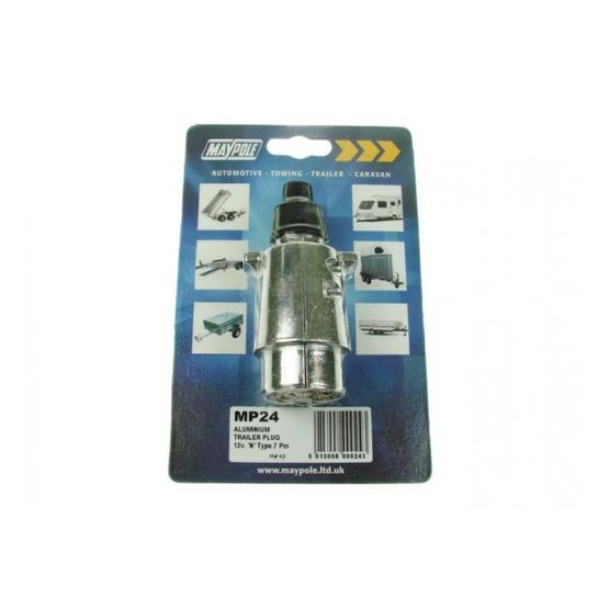 Maypole 12N Type 7 Pin Aluminium Plug Towing image 2
