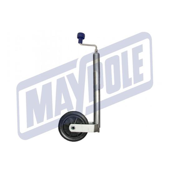Maypole MP225 34mm 75KG Telescopic Jockey Wheel image 1