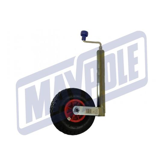 Maypole Jockey Wheel Pneumatic , 48 mm image 1